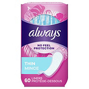 Always Thin Daily Liners Unscented Wrapped Regular