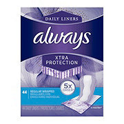 Always Xtra Protection Daily Liners Unscented Wrapped Regular