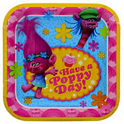 American Greetings DreamWorks Trolls Square Plates, 7 inch