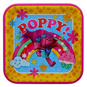 American Greetings DreamWorks Trolls Square Plates, 9 inch