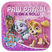 American Greetings Paw Patrol Girl Square Plate,  9 inch