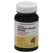 American Health Original Papaya Enzyme Vegetarian Formula Chewable Tablets