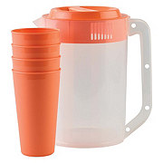 American Maid Juice Set with Tumblers Assorted Colors