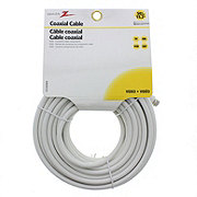 AmerTac 50 Foot White Connector Coaxial RG6 Cable