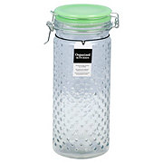 Amici Home Emma Jade Hobnail Large Glass Hermetic Canister