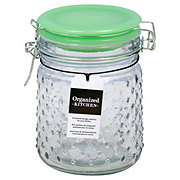 Amici Home Emma Jade Hobnail Small Glass Hermetic Canister