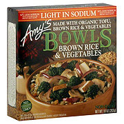 Amy's Brown Rice & Vegetables  Bowls