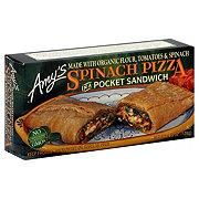 Amys Spinach Pizza Pocket Sandwich