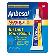 Anbesol Maximum Strength Instant Pain Relief Gel