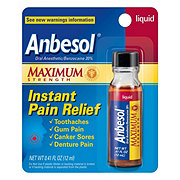 Anbesol Maximum Strength Liquid Instant Pain Relief