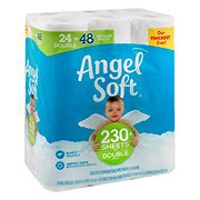 Angel Soft Classic White Double Roll Toilet Paper