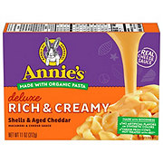 Annie's Homegrown Creamy Deluxe Shells and Real Aged Cheddar Sauce