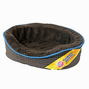 "Arm & Hammer 18"" Plush & Suede Lounger Pet Bed - Colors May Vary"