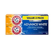 Arm & Hammer Advanced White Extreme Whitening Baking Soda & Peroxide Fresh Mint Fluoride Anticavity Toothpaste 2 CT