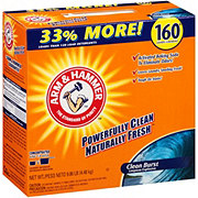 Arm & Hammer Clean Burst Power Powder Laundry Detergent, 160 Loads