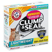 Arm & Hammer Clump & Seal Unscented Light Weight Multi-Cat Litter