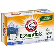Arm & Hammer Essentials Mountain Rain Fabric Softener Sheets