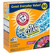 Arm & Hammer Plus OxiClean Tropical Burst HE Powder Laundry Detergent, 80 Loads