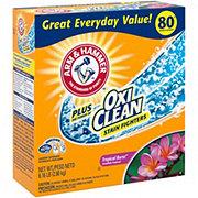 Arm & Hammer Plus OxiClean Tropical Burst HE Powder Laundry Detergent, 80 Loads
