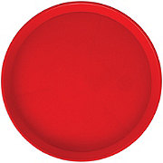 Arrow Dark Red Round Serving Tray