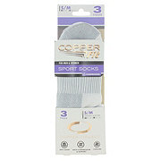 As Seen On TV Copper Fit Sport Socks in White Small