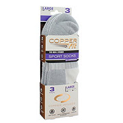 As Seen On TV Copper Fit White Sport Socks, Large