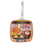 As Seen On TV Red Copper Square Pan Fry
