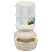 Aspen Pet Lebistro 1 Gallon Bleached Linen Waterer