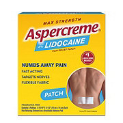Aspercreme Max Strength Lidocaine Patch