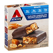 Atkins Advantage Snack/Light Meal Caramel Chocolate Peanut Nougat Bar