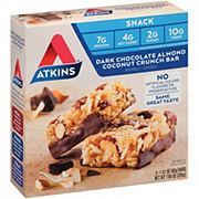 Atkins Advantage Snack/Light Meal Dark Chocolate Almond Coconut Crunch Bar