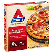 Atkins Stone Fired Meat Lovers Pizza