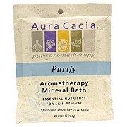 Aura Cacia Balancing Sage Aromatherapy Mineral Bath