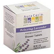 Aura Cacia Pure Aromatherapy Relaxing Lavender Shower Tablets