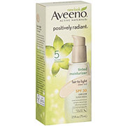 Aveeno Active Naturals Positively Radiant Tinted Moisturizer, Fair To Light
