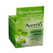 Aveeno Positively Radiat Overnight Hydrating Facial
