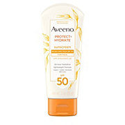 Aveeno Protect + Hydrate Lotion Sunscreen With Broad Spectrum SPF 50 For Face