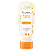 Aveeno Protect + Hydrate Lotion Sunscreen With Broad Spectrum SPF 70