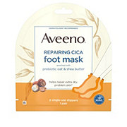 Aveeno Repairing Cica Foot Mask 2 Single-Use Slippers