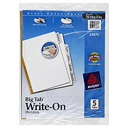 Avery Advantages Big Tab Write On Dividers, 5 CT