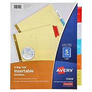 Avery Big Tab Dividers, 5 Tab