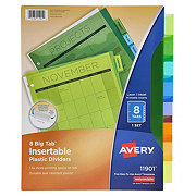 Avery Big Tab Insertable Plastic Reference Dividers