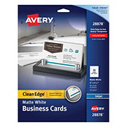 Avery Business Cards, Clean Edge