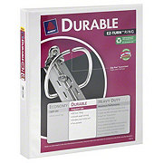Avery Durable Binder with EZ-Turn Ring, White