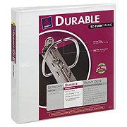 Avery Durable EZ-Turn Ring Binder, White