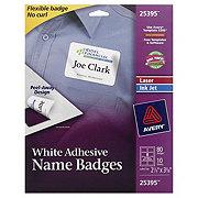 Avery Laser/Ink Jet White Adhesive Name Badges, 2-1/3