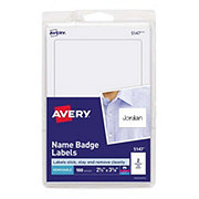Avery Print Name Badge Labels