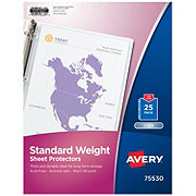 Avery Standard Weight Clear Sheet Protectors