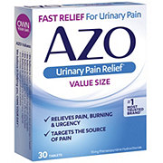 Azo Urinary Pain Relief Tablets Value Size