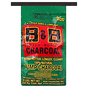 B & B Natural Hickory Lump Charcoal
